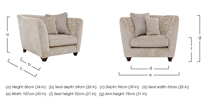 The Hollywood Collection Marilyn Fabric Armchair in  on Furniture Village