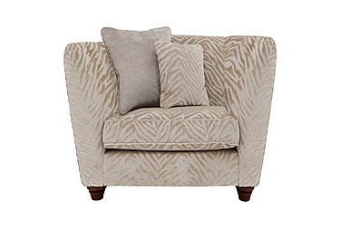 The Hollywood Collection Marilyn Fabric Armchair in Kenya Natural An on Furniture Village