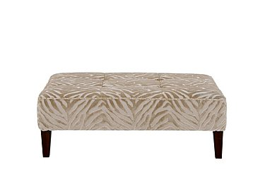 The Hollywood Collection Marilyn Fabric Footstool in Kenya Natural An on Furniture Village