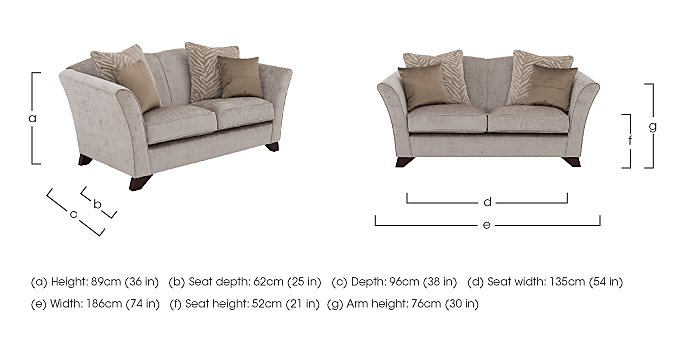 The Hollywood Collection Hepburn 2 Seater Fabric Sofa in  on Furniture Village