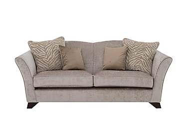 The Hollywood Collection Hepburn 3 Seater Fabric Sofa in Evie Mink  An on Furniture Village