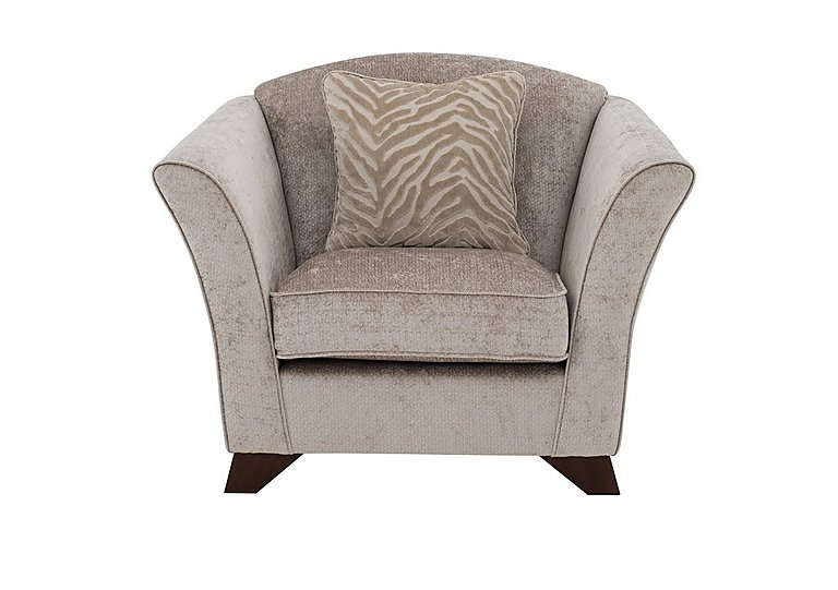 The Hollywood Collection Hepburn Fabric Armchair in Evie Mink  An on Furniture Village