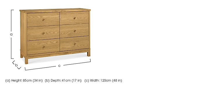 Eva 6 Drawer Chest in  on Furniture Village