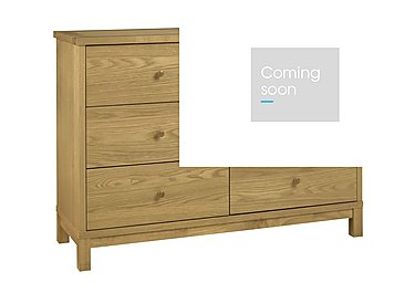 Eva 6 Drawer Chest in Oak on Furniture Village