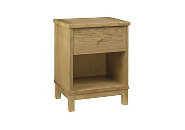 Eva 1 Drawer Nightstand in Oak on Furniture Village