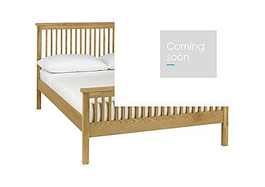 Eva High Footend Bed Frame in Oak on Furniture Village