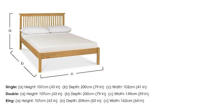 Eva Low Footend Bed Frame in  on Furniture Village