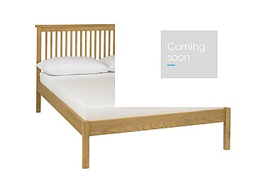 Eva Low Footend Bed Frame in Oak on Furniture Village