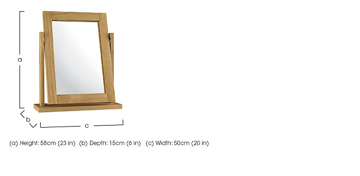 Eva Vanity Mirror in  on Furniture Village