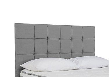 Prestige Cube Headboard in Moda Nickel 2243 on Furniture Village