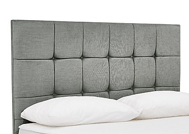 Prestige Cube Headboard in Azurro Silver on Furniture Village