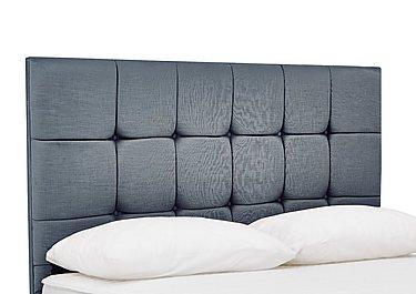 Prestige Cube Headboard in Linea Graphite on Furniture Village