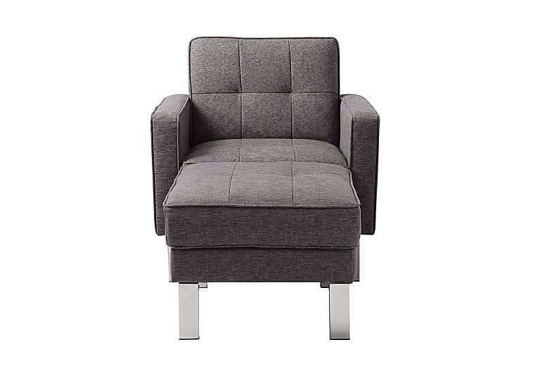 Newman Fabric Chair Bed with Footstool in Charcoal Grey on Furniture Village