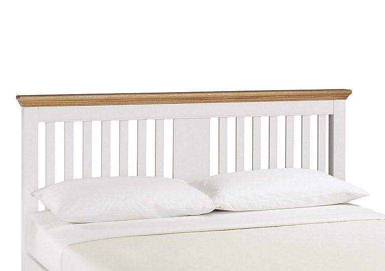 Emily Wooden Headboard in Ivory And Oak on Furniture Village