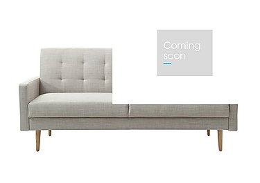 Sacha Fabric Sofa Bed in Linen on Furniture Village