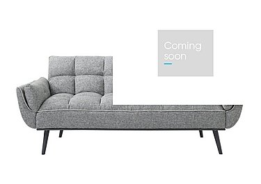 Collette Fabric Sofa Bed in Light Grey W Contrast Piping on Furniture Village