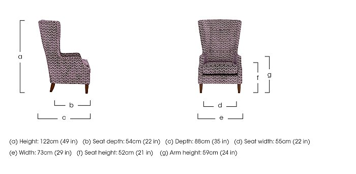 Viola Fabric Accent Armchair in  on Furniture Village
