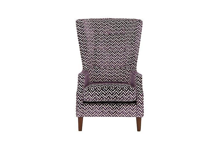 Viola Fabric Accent Armchair in Percy Plum Dark Antique on Furniture Village