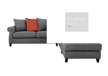 Sahara Fabric Pillow Back Corner Sofa with Footstool in Benbeigh Grey Dark Feet on Furniture Village