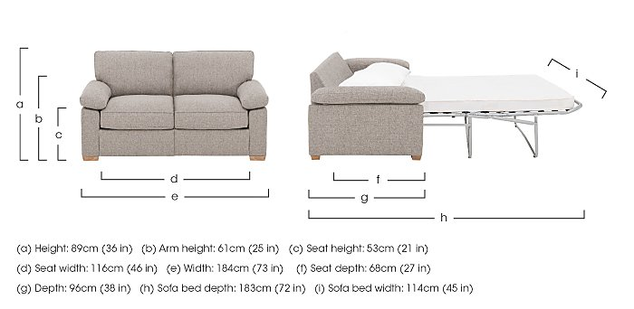 The Weekender Drift 2 Seater Deluxe Fabric Sofa Bed in  on Furniture Village
