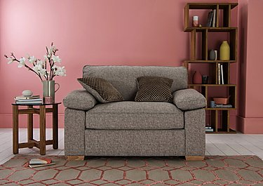 The Weekender Drift Deluxe Fabric Sofa Bed Chair in  on Furniture Village