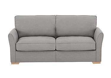 The Weekender Breeze 3 Seater Deluxe Fabric Sofa Bed in Barley Silver Lt on Furniture Village