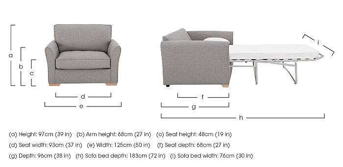 The Weekender Breeze Deluxe Fabric Sofa Bed Chair in  on Furniture Village