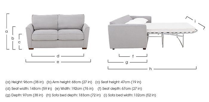 The Weekender Fable 3 Seater Deluxe Fabric Sofa Bed in  on Furniture Village