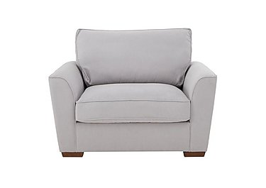 The Weekender Fable Deluxe Fabric Sofa Bed Chair in Cosmo Silver Dk on Furniture Village