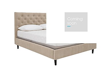 Spritz Bed Frame in Matrix 3 Biscuit on Furniture Village