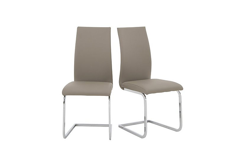 Malibu Pair of Dining Chairs in Taupe on Furniture Village