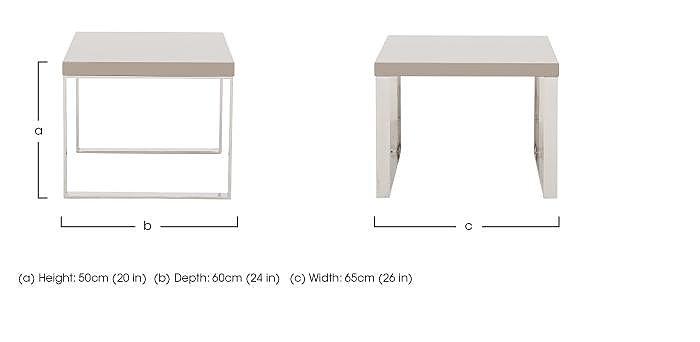 Malibu Lamp Table in  on Furniture Village