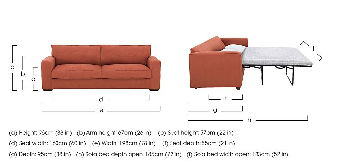 The Weekender Dune 3 Seater Fabric Sofa Bed in  on Furniture Village