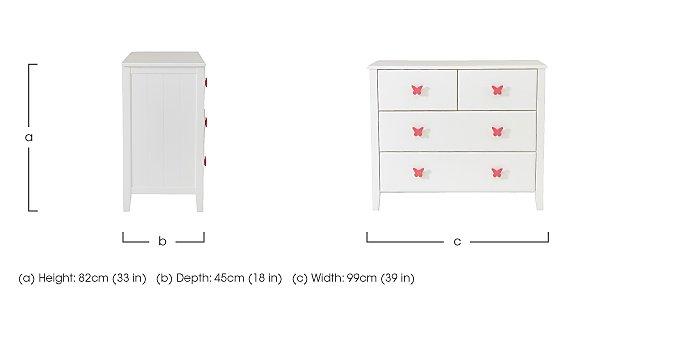 Blossom 4 Drawer Chest in  on Furniture Village