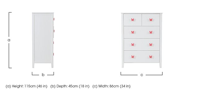 Blossom 5 Drawer Chest in  on Furniture Village