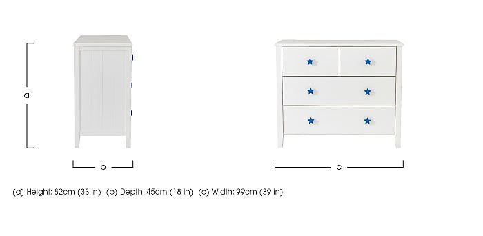 Supernova 4 Drawer Chest in  on Furniture Village