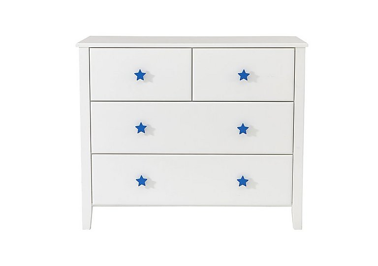 Supernova 4 Drawer Chest in Blue on Furniture Village
