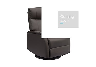 Budapest Faux Leather Recliner Armchair in Charcoal Plush on Furniture Village