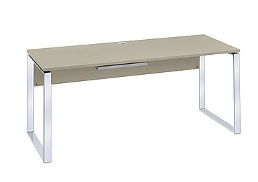 Wall Street Executive Desk in Sand on Furniture Village