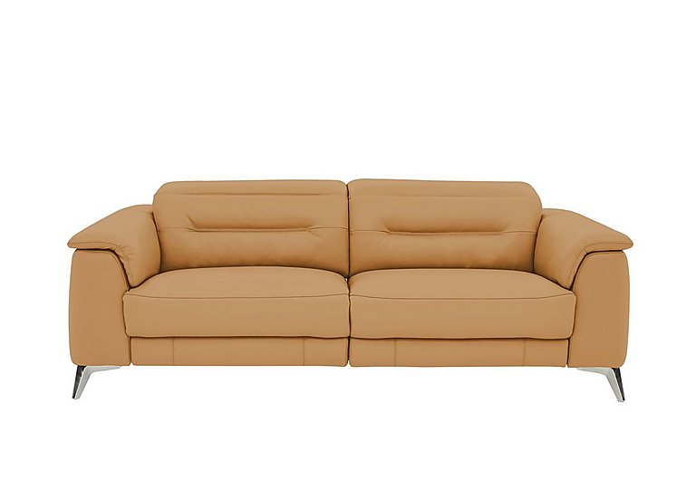 Sanza 3 Seater Leather Power Recliner Sofa With Power Headrests