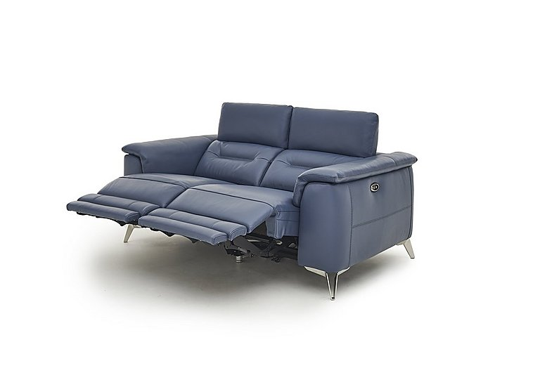Sanza 2 Seater Leather Power Recliner Sofa With Power Headrests