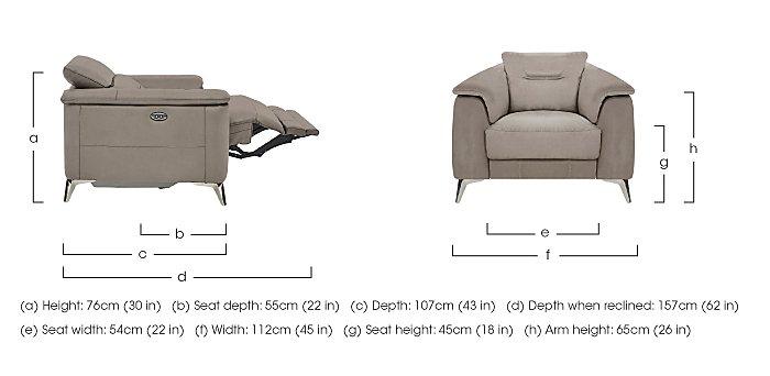 Sanza Fabric Recliner Armchair in  on Furniture Village