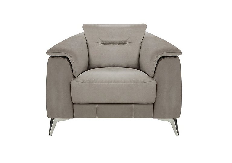 Sanza Fabric Recliner Armchair in Bfa-Raf-R946 Silver Grey on Furniture Village