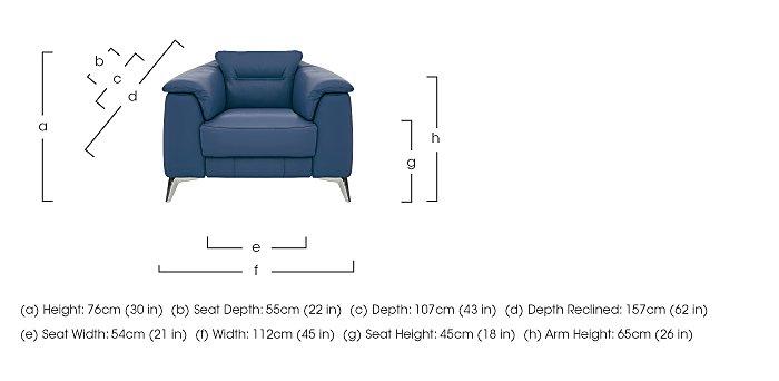 Sanza Leather Recliner Armchair in  on Furniture Village