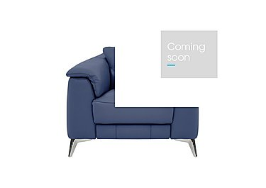 Sanza Leather Recliner Armchair in Bv-313e Ocean Blue on Furniture Village