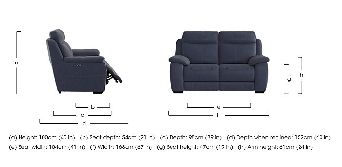 Starlight Express 2 Seater Fabric Recliner Sofa with Power Headrests in  on Furniture Village