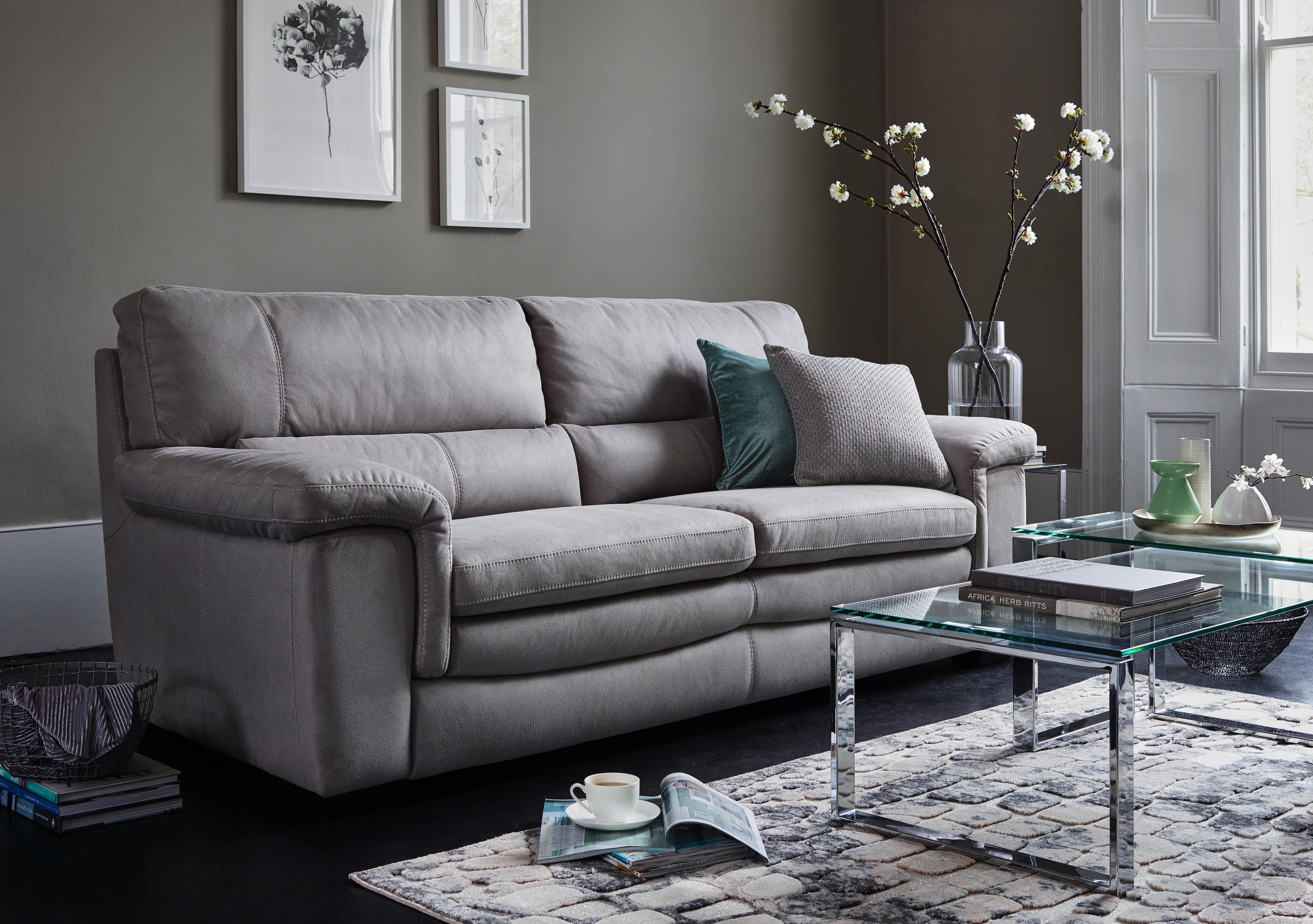 save 300 georgia 3 seater leather sofa