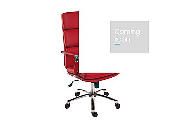 East River Pier 15 Office Chair in Red on Furniture Village