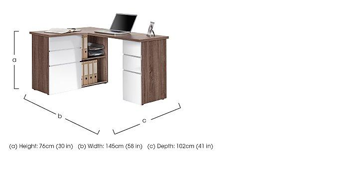 South Street Fulton Computer Desk in  on Furniture Village