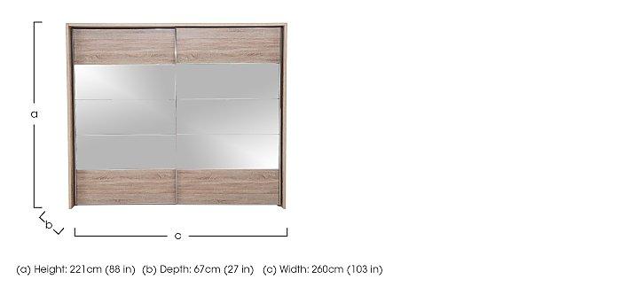 Laguna 2 Door Slider Wardrobe With Lights 260cm in  on Furniture Village